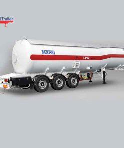 تریلر تانکر حمل گاز مایع LPG سه محور