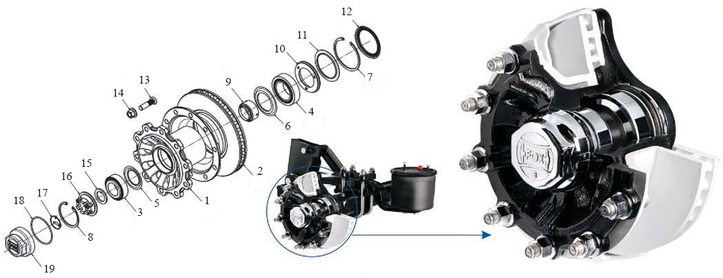 Hub Assembly in Disc Brake Axles